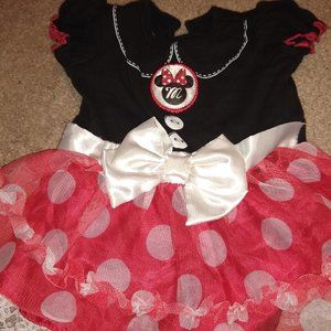 Minnie Mouse Onesie Ruffle Bottom 6 months